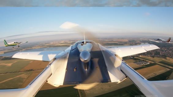 carro voador aircar prototype1 voando2 traseira