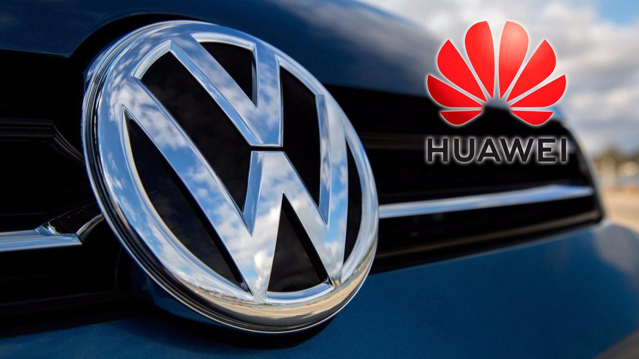 volkswagen e huawei logo