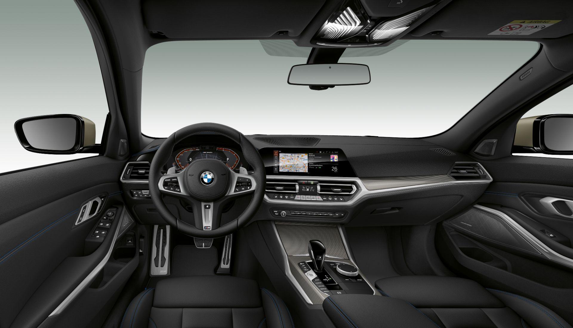 bmw m340i xdrive interior painel acabamento preto