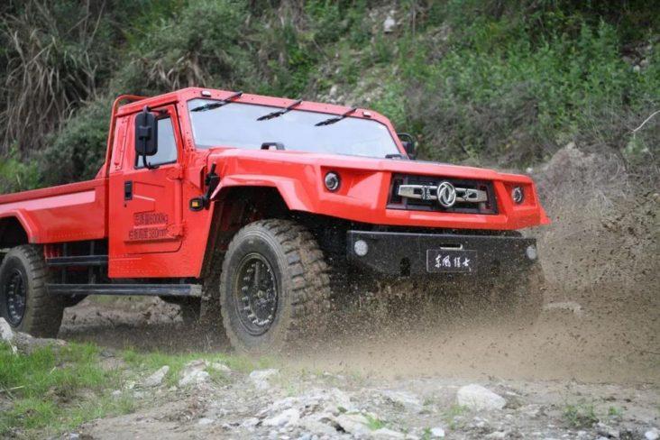 dongfeng warrior m50 vermelho frente lama