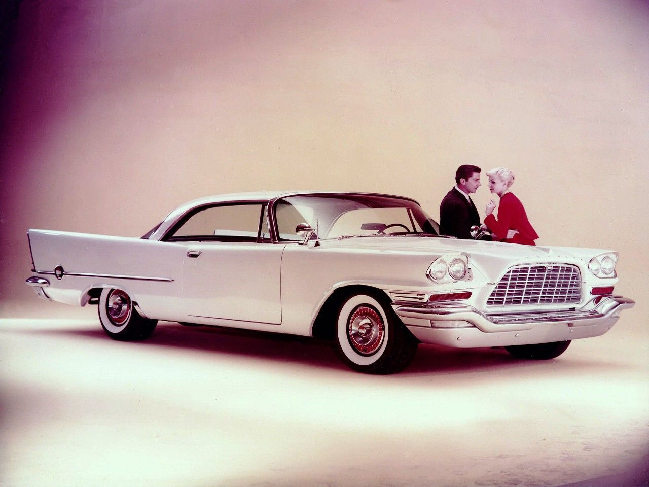 chrysler 300d 1958 coupe branco lateral