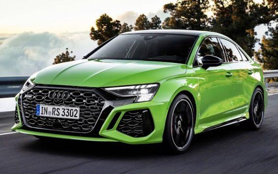 audi rs3 2022 sedan verde frente