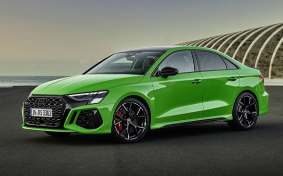 audi rs3 2022 sedan verde lado