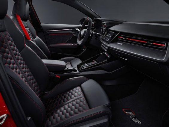 audi rs3 2022 sportback vermelho interior