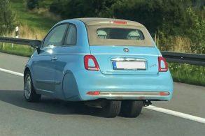 Conheça o Fiat 500 de 'três rodas'; ele existe por um motivo