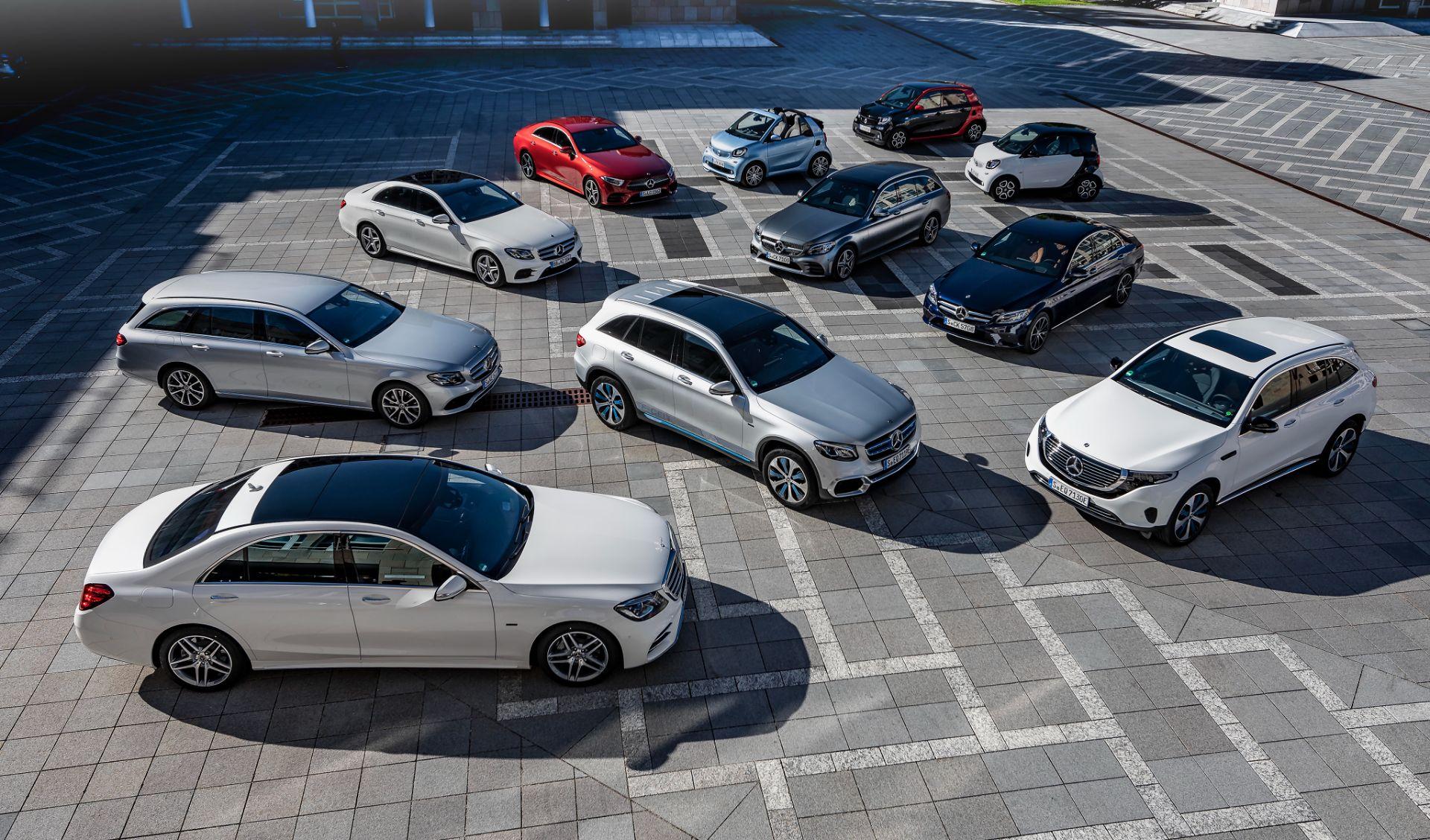gama de carros de passeio da mercedes benz e smart