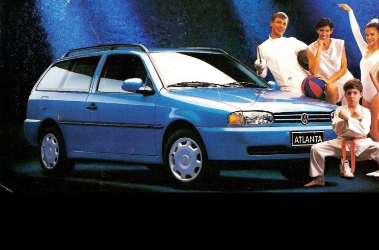 parati atlanta 1996 azul propaganda de epoca