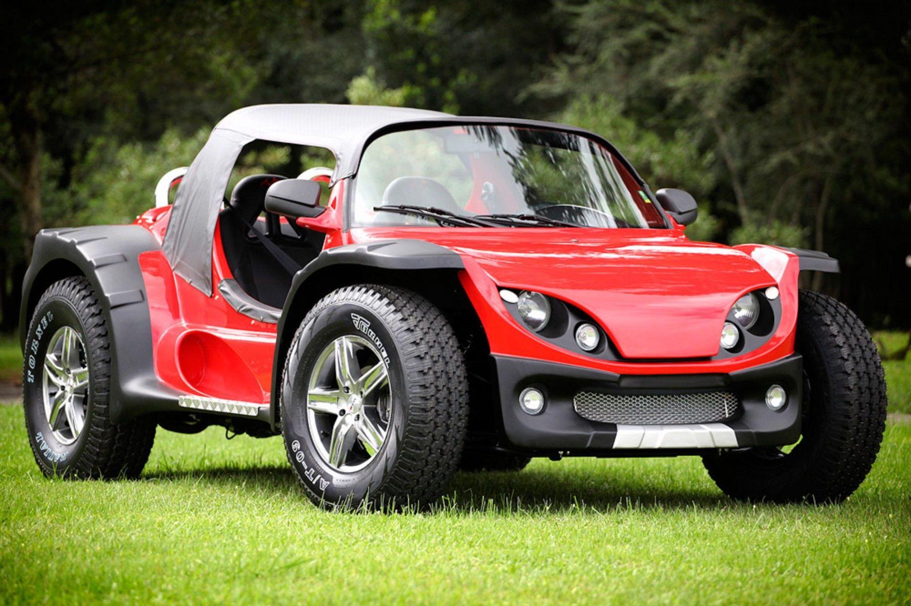 wake super buggy vermelho frente estacionado na grama