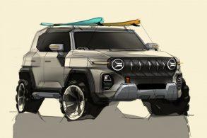 SsangYong mostra sketch de um novo SUV com grande responsabilidade