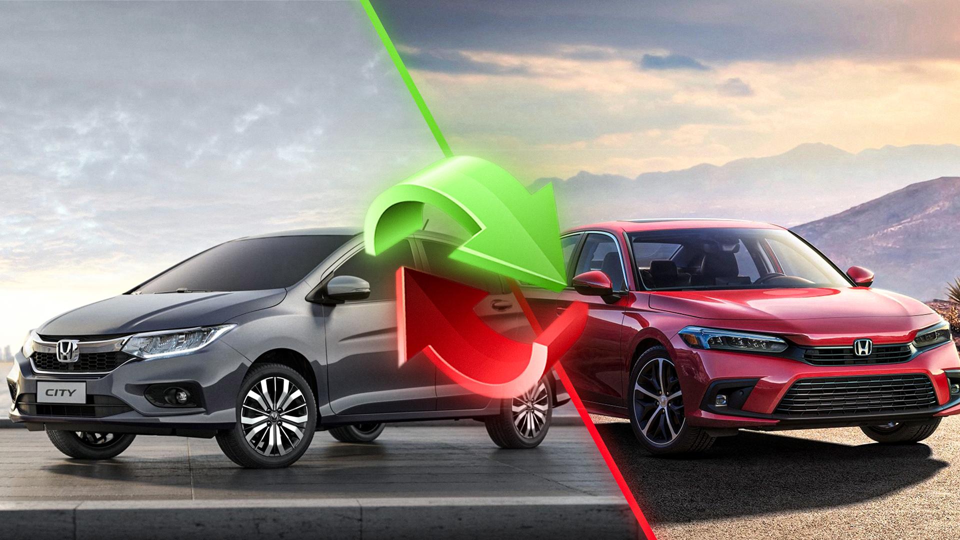Honda City substitui Civic no mercado de sedã no Brasil