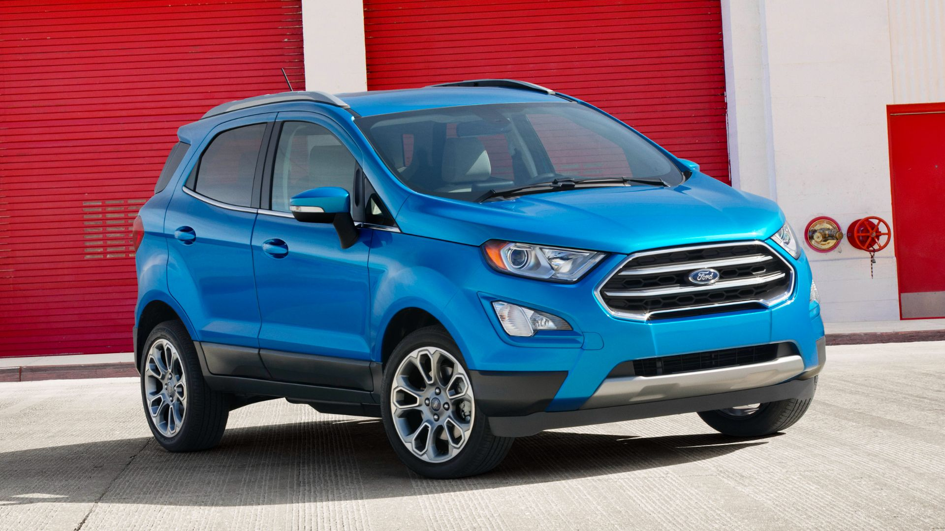 ford ecosport titanium nos eua frente azul