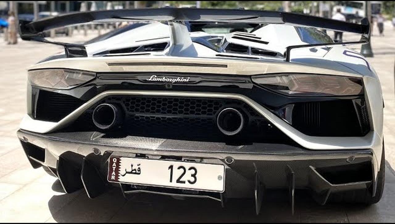 lamborghini aventador svj roadster branco fosco placa qatar milhoes