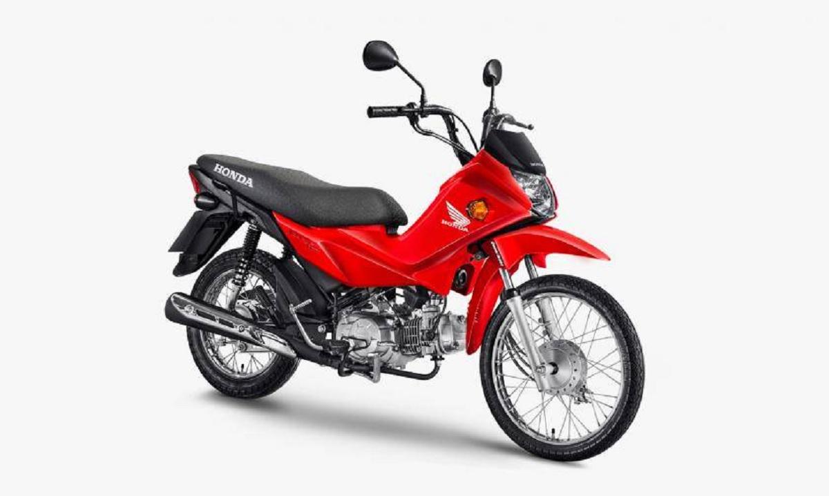 motos mais baratas do brasil honda pop 110i vermelha lateral