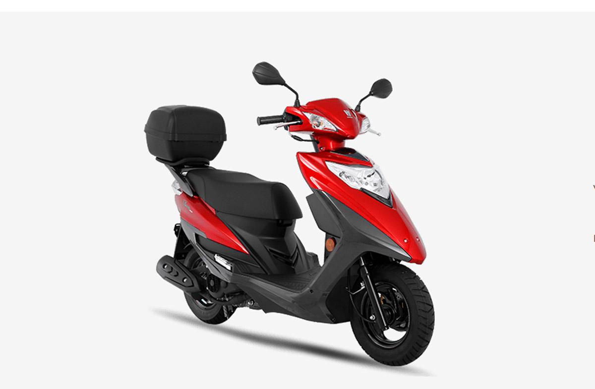 motos mais baratas do brasil haojue lindy 125 vermelha de frente