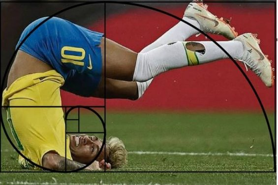 proporcao aurea sendo usada em meme do neymar