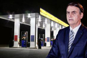 Bolsonaro escorrega em postos bandeira branca