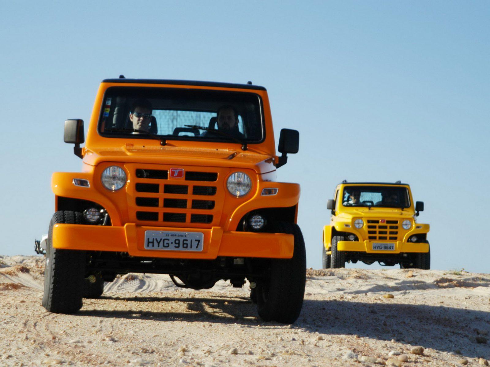 troller t4 laranja e amarelo frente