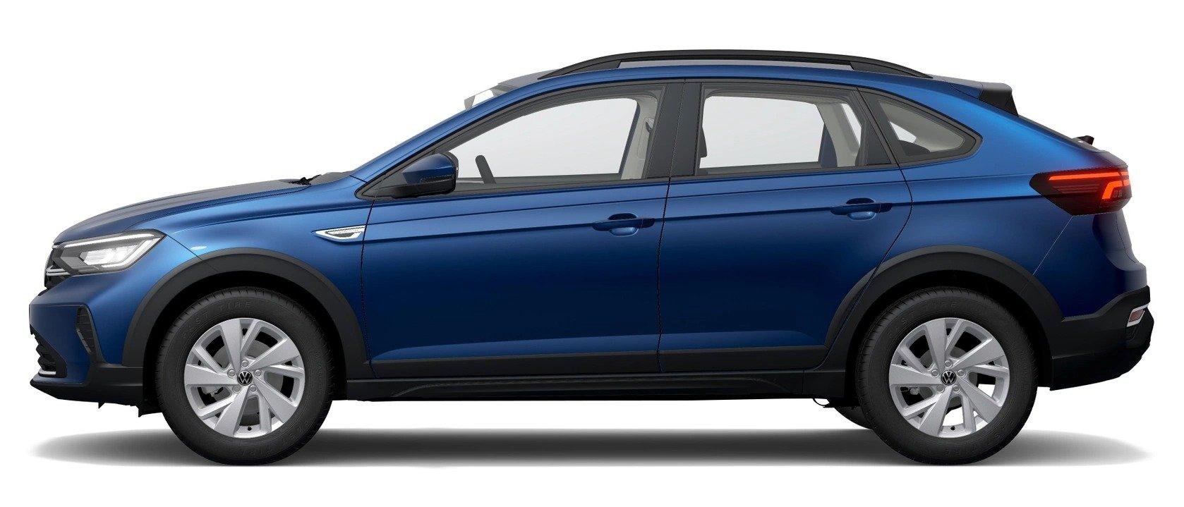volkswagen nivus comfortline 2022 azul biscay lateral