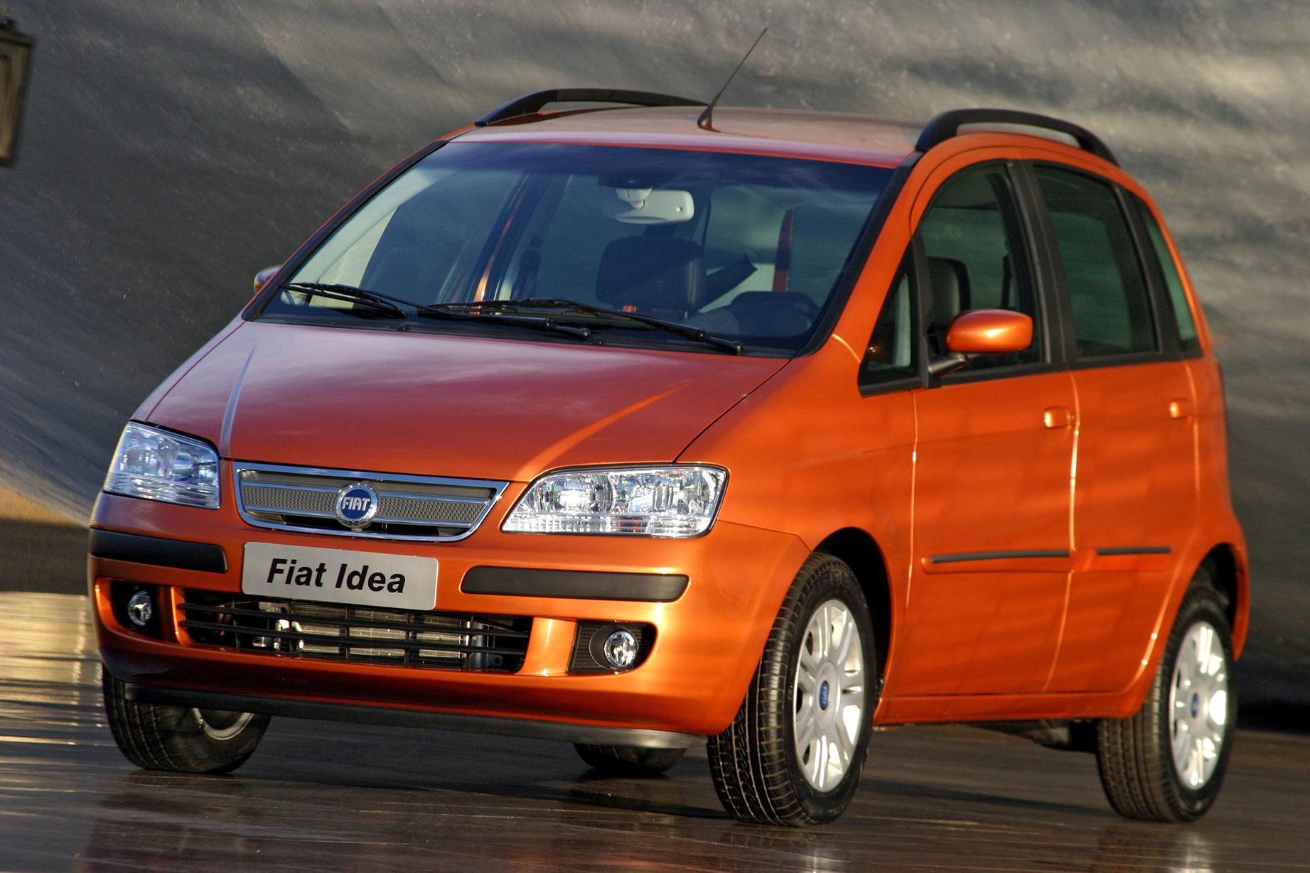fiat idea hlx 2005 laranja de frente