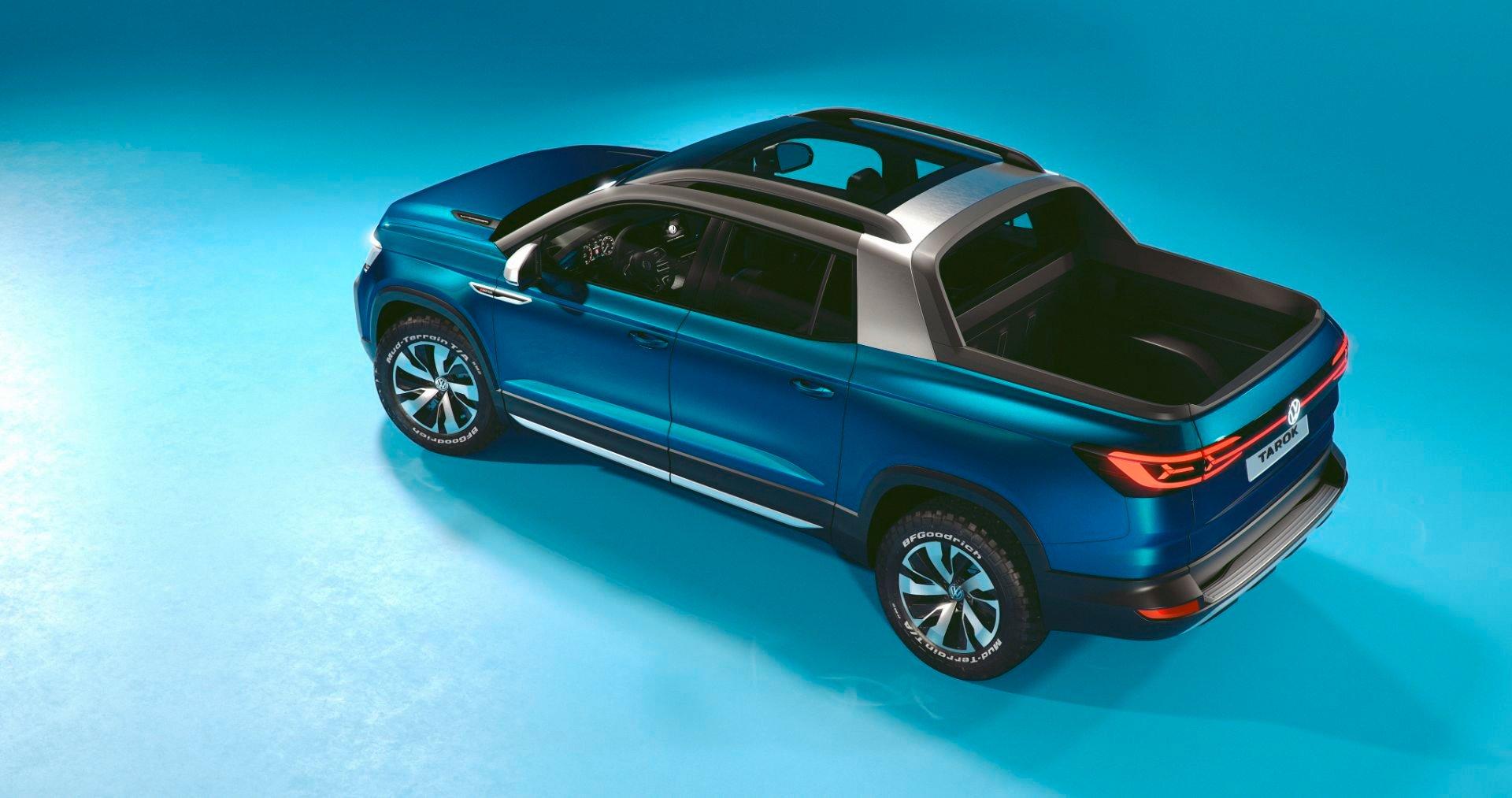 volkswagen tarok concept azul lateral traseira vista de cima foto em estudio