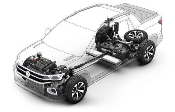 volkswagen tarok concept cutaway mecanica mostrando suspensao motor tracao integral