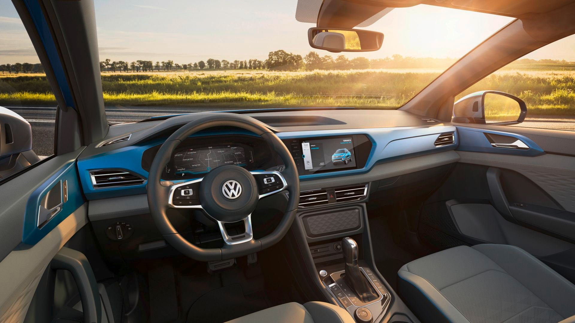 volkswagen tarok concept interior painel
