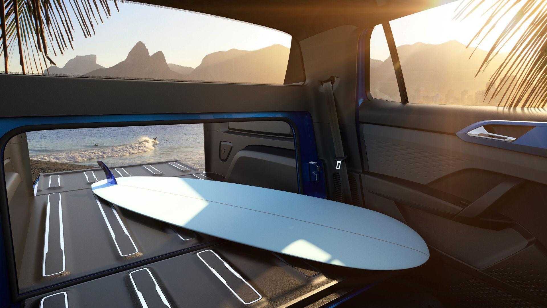 volkswagen tarok concept interior passagem que da acesso a cacamba