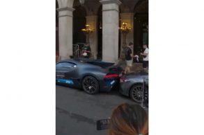Motorista 'barbeiro' bate Bugatti de R$ 32 milhões em Mercedes