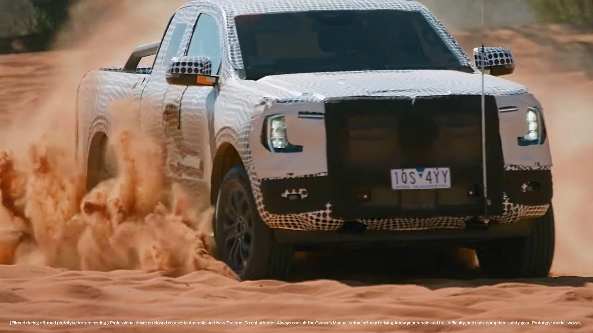 prototipo mula de testes ford ranger 2023 frente