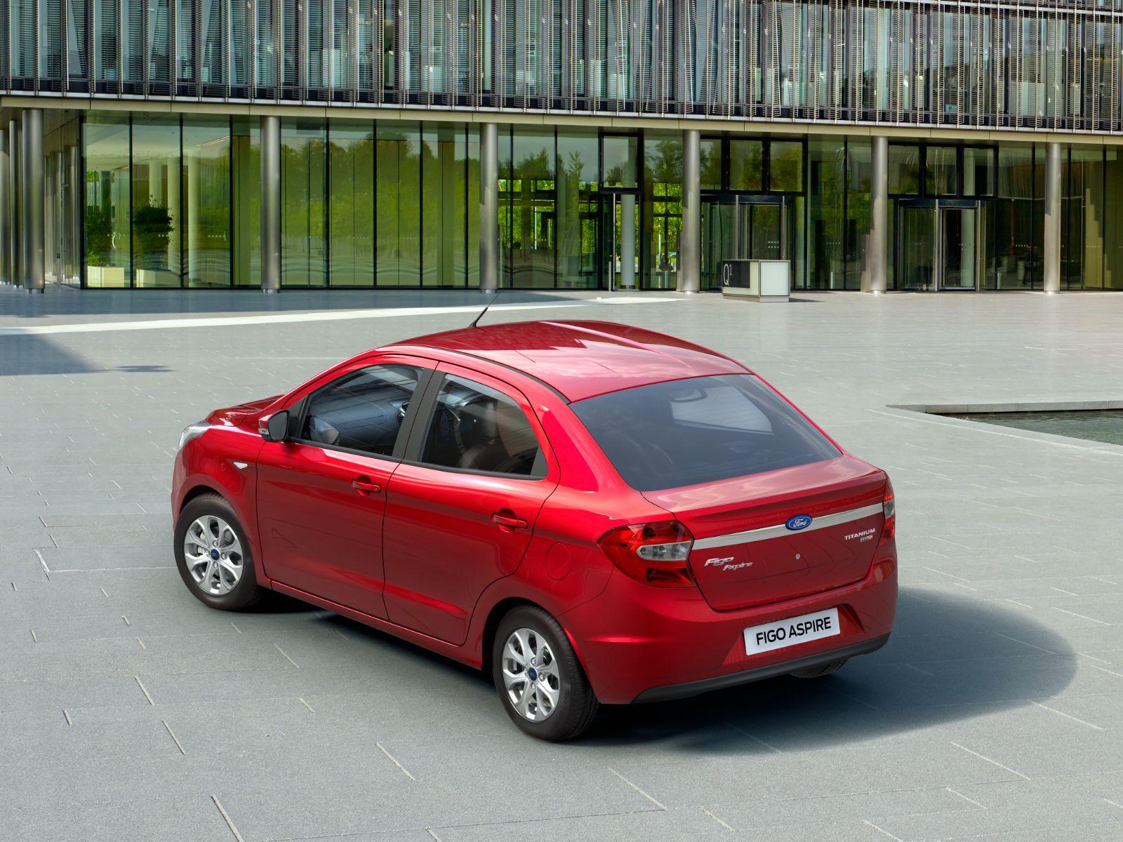 ford figo aspire vermelho traseira modelo indiano