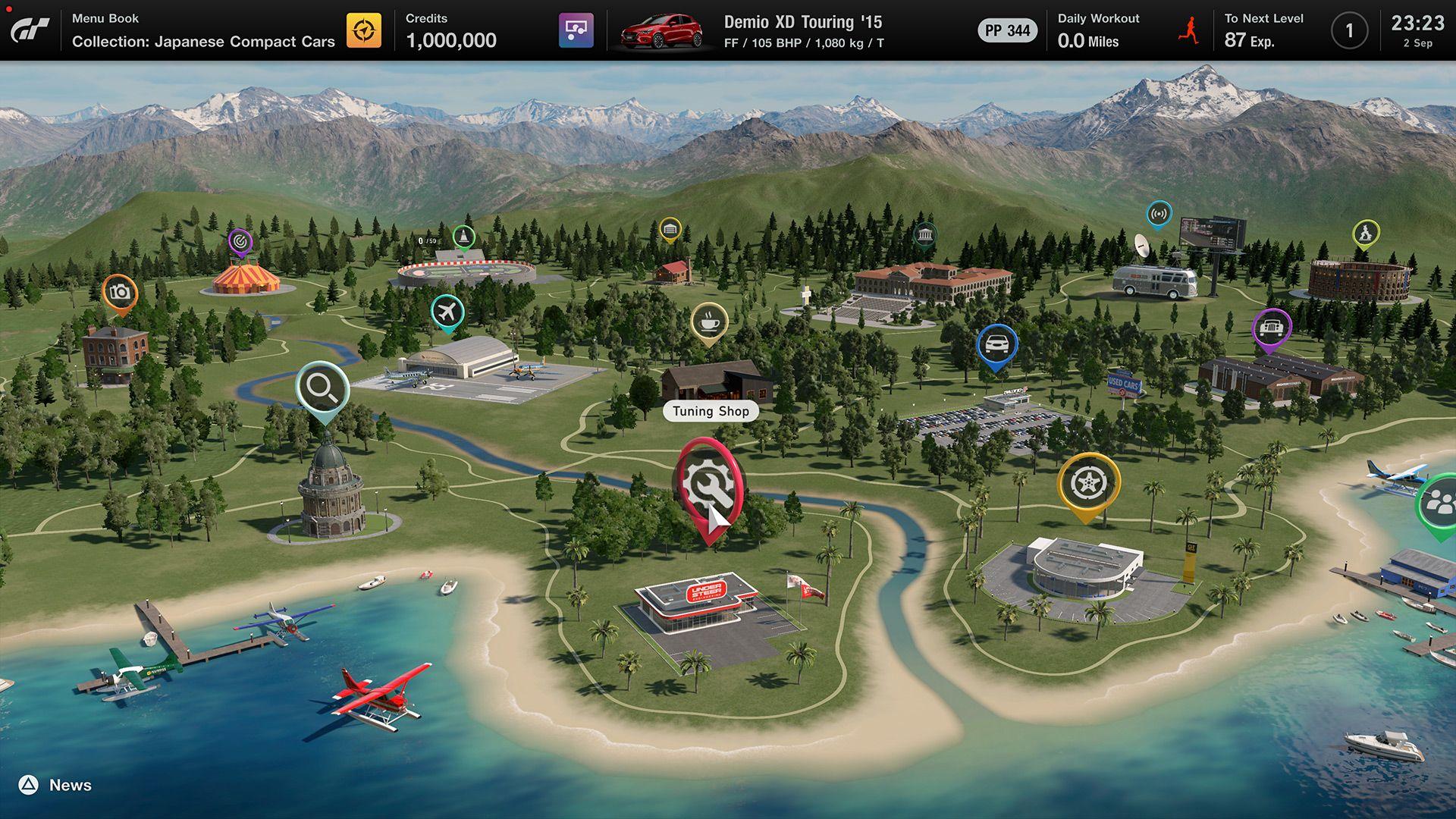 gran turismo 7 menu principal