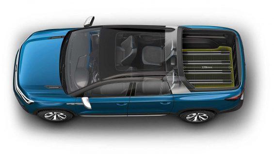 volkswagen tarok concept cima media da cacamba com divisoria abaixada