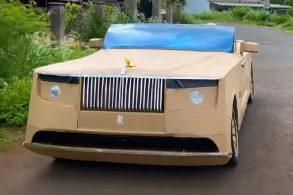 Rolls Royce de papelão: Youtuber faz cópia do carro mais caro do mundo