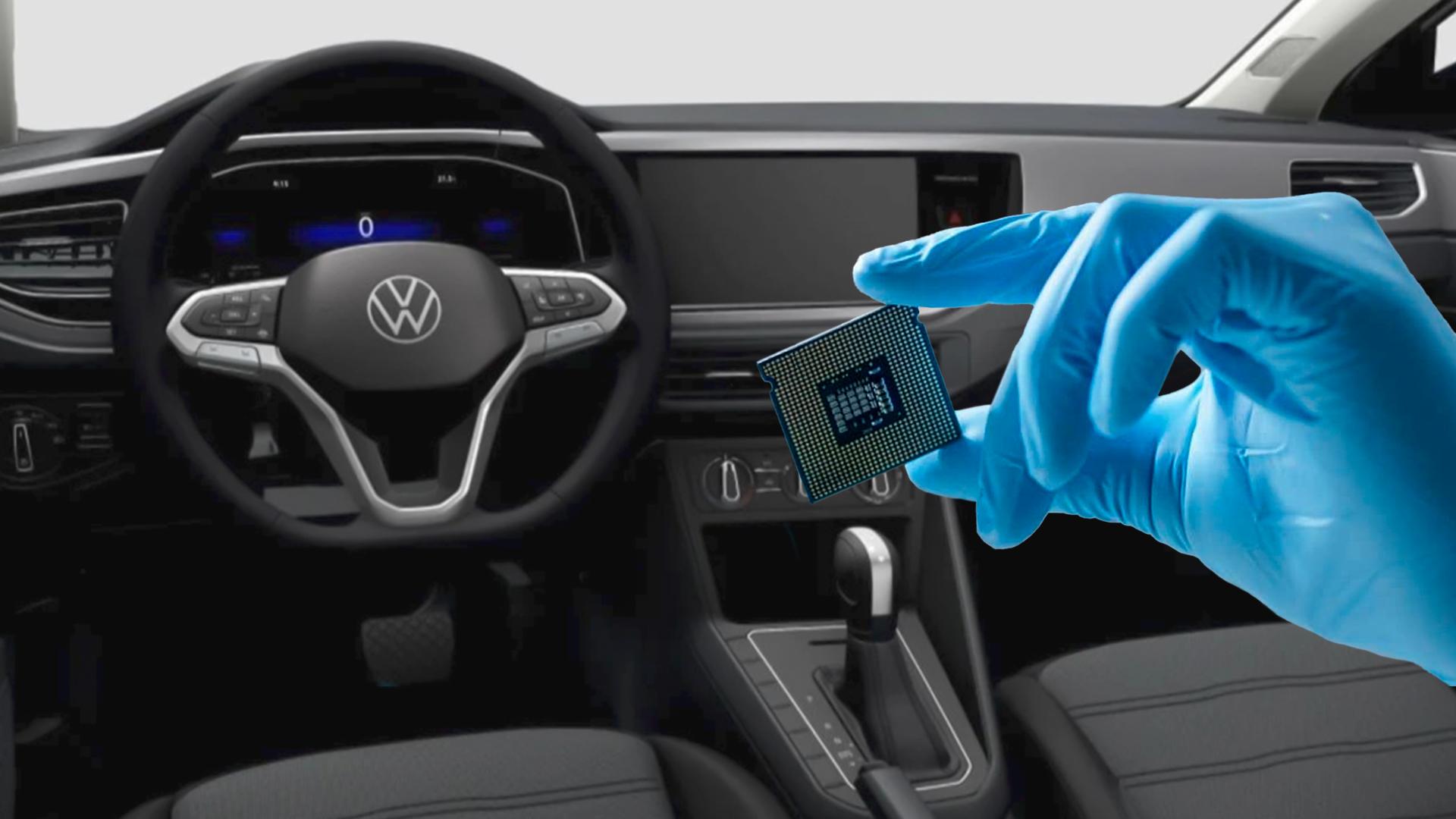 Devido à falta de semicondutores, Volkswagen opta por produzir alguns modelos sem a central multimídia
