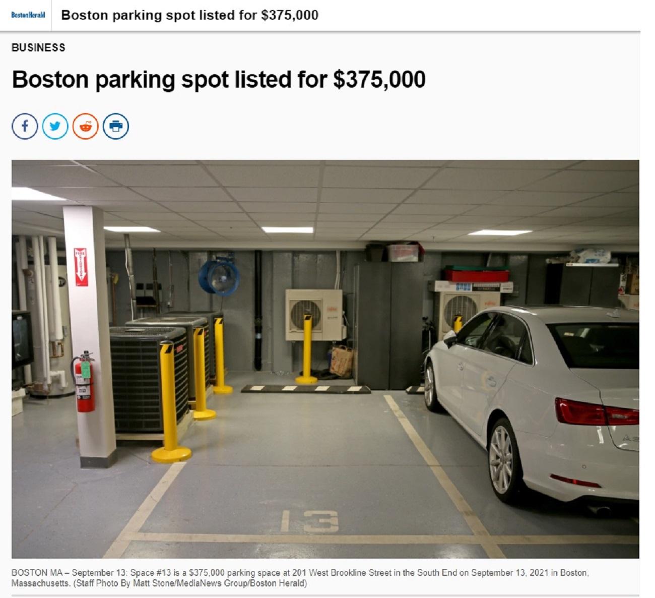 print vaga de garagem jornal boston herald 1