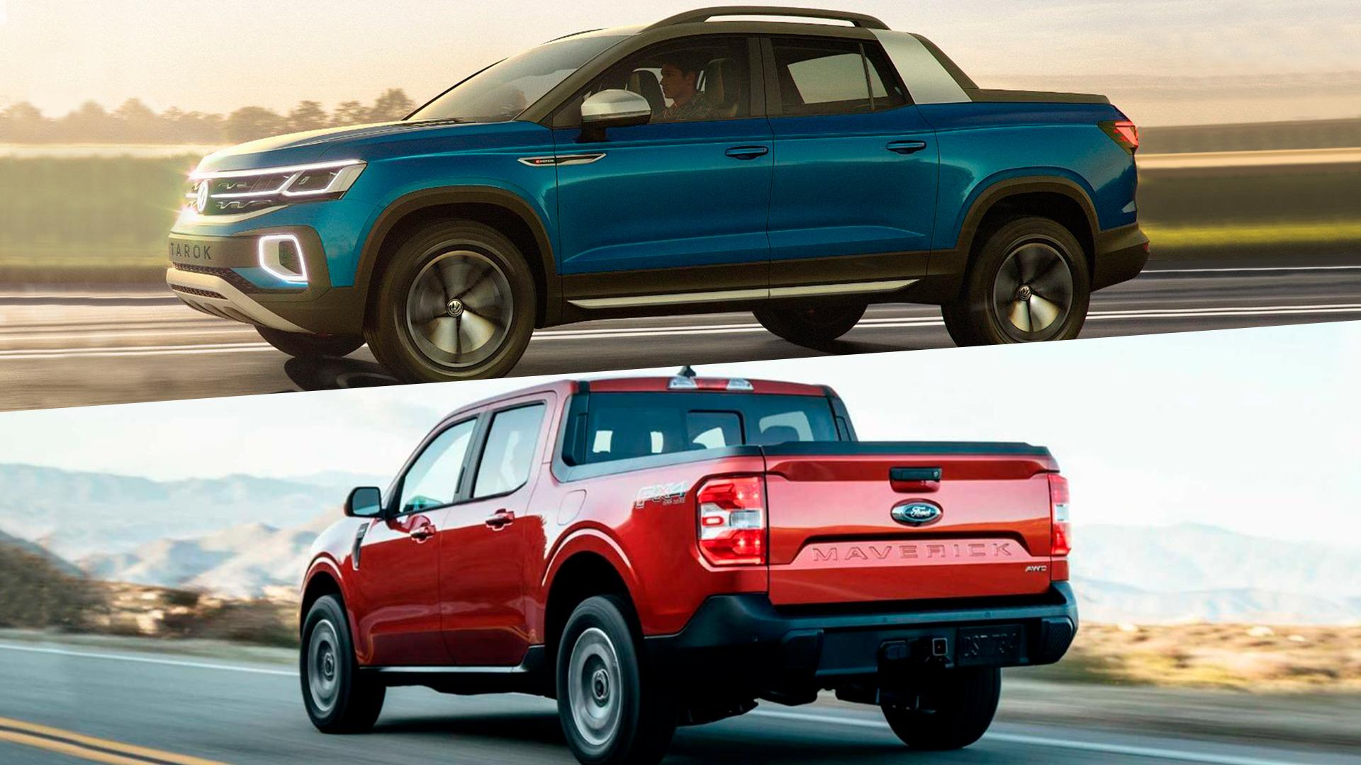 Ford Maverick e Volkswagen Tarok chegam no segmento de picapes para brigar com Fiat Toro