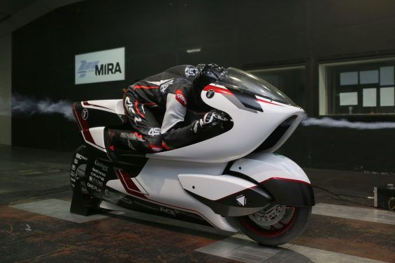 white motorcycle concepts wmc250ev tunel de vento