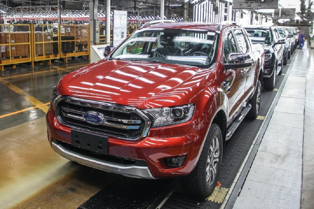 producao da picape ranger na fabrica da ford em general pacheco na argentina