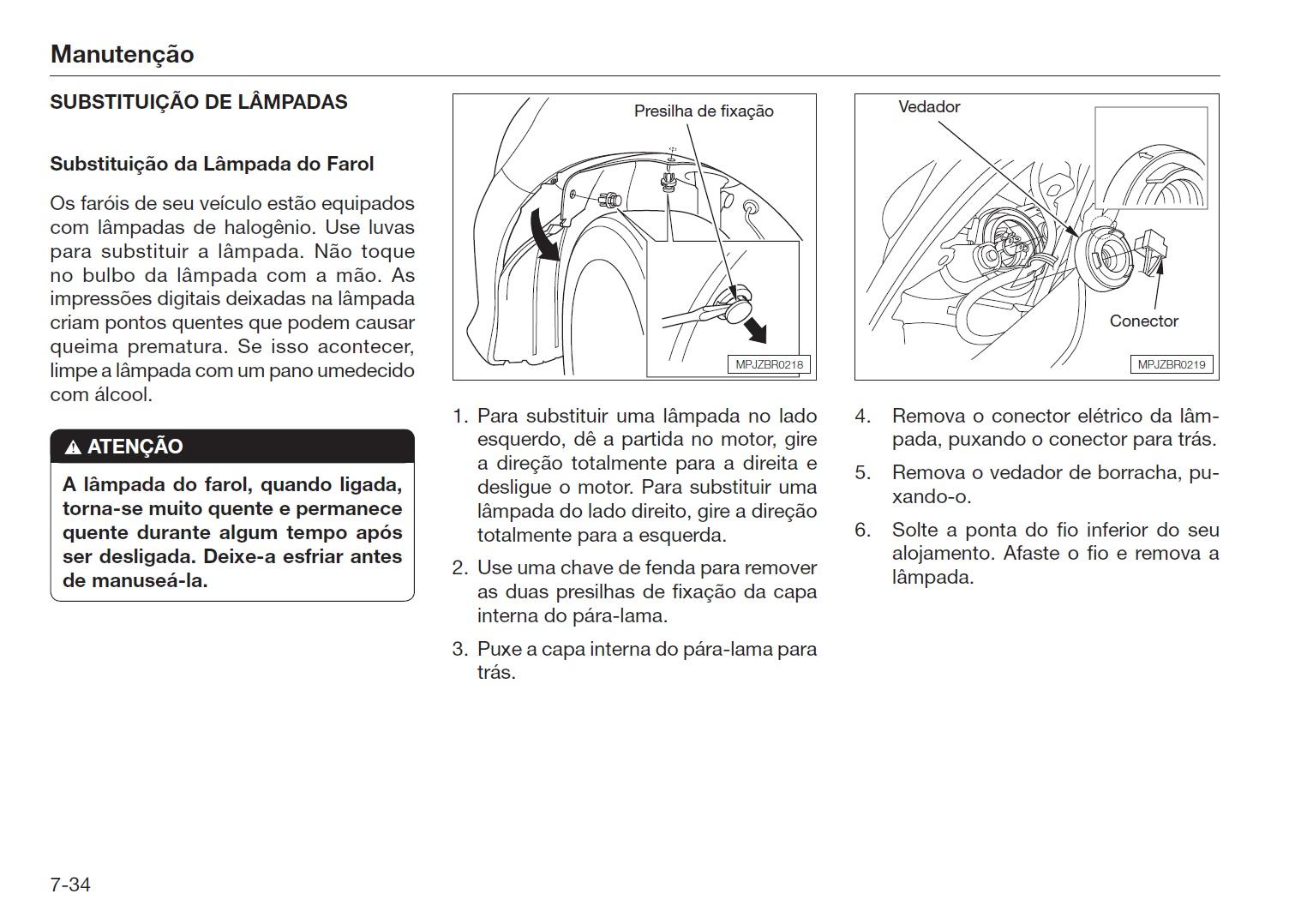 manual honda fit troca de lampada 1