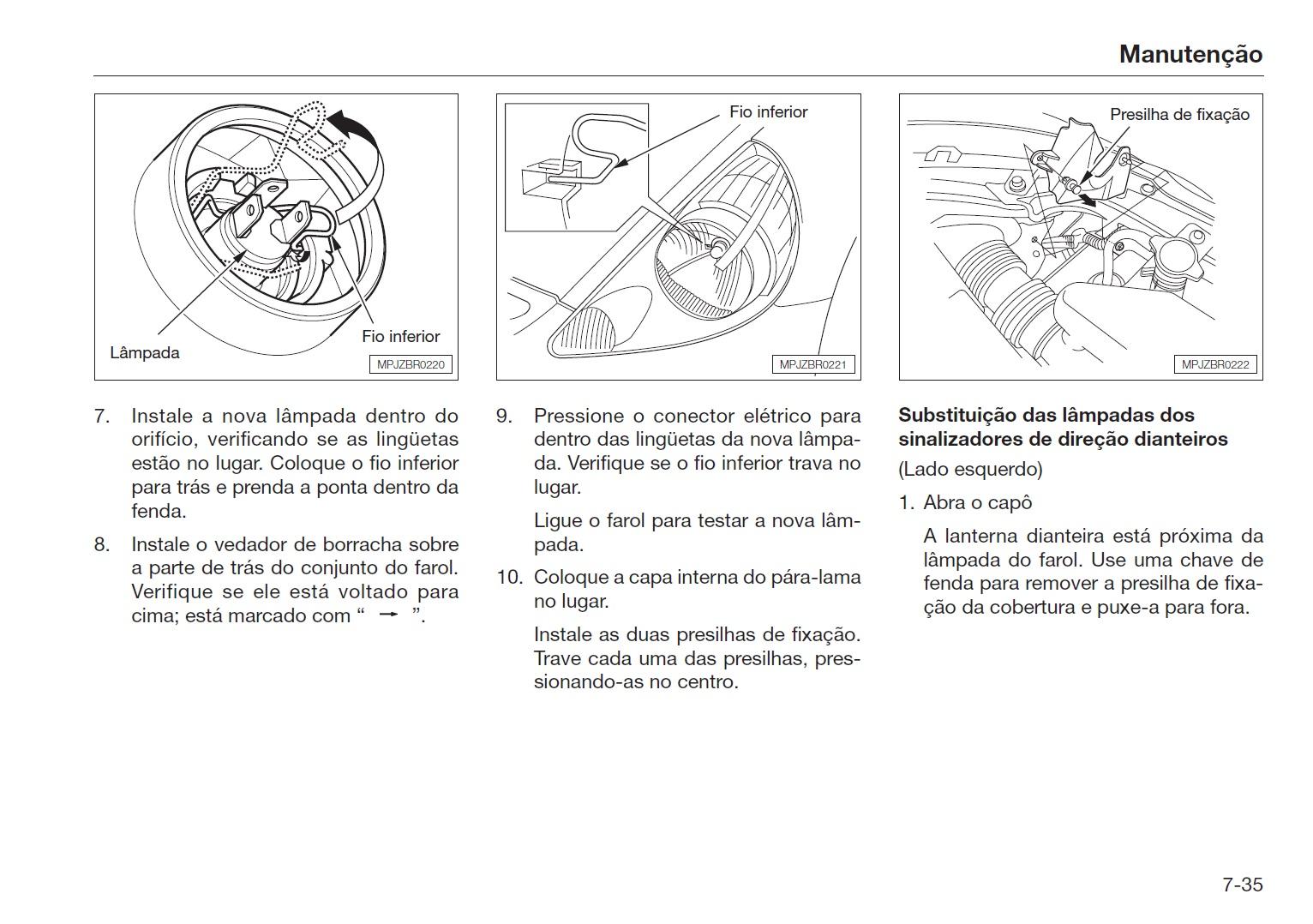 manual honda fit troca de lampada 2