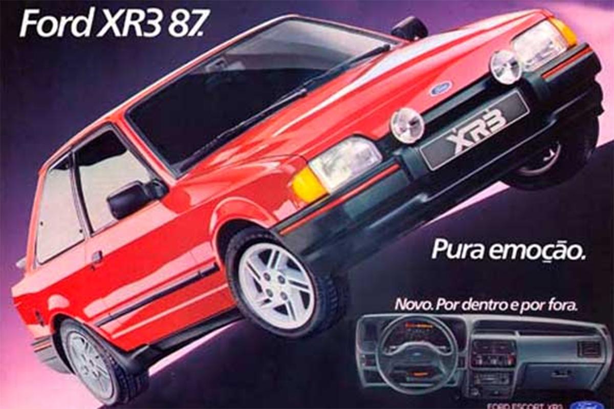 ford escort xr3 1987 vermelho de frente