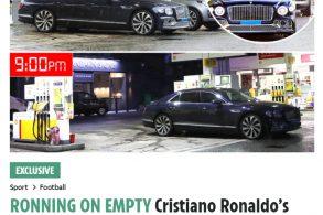 Crise de gasolina? Nem o Cristiano Ronaldo escapa
