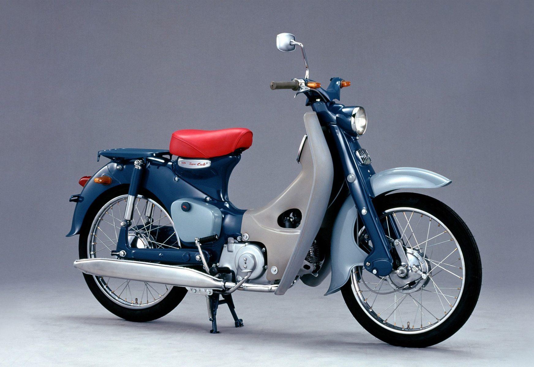 honda super cub 125 2022 11 modelo pioneiro c 100 de 1958