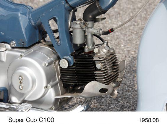 honda super cub 125 2022 12 motor do modelo pioneiro c 100 de 1958