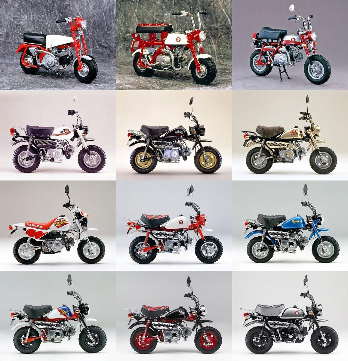 honda monkey 14 quadro com alguns dos modelos