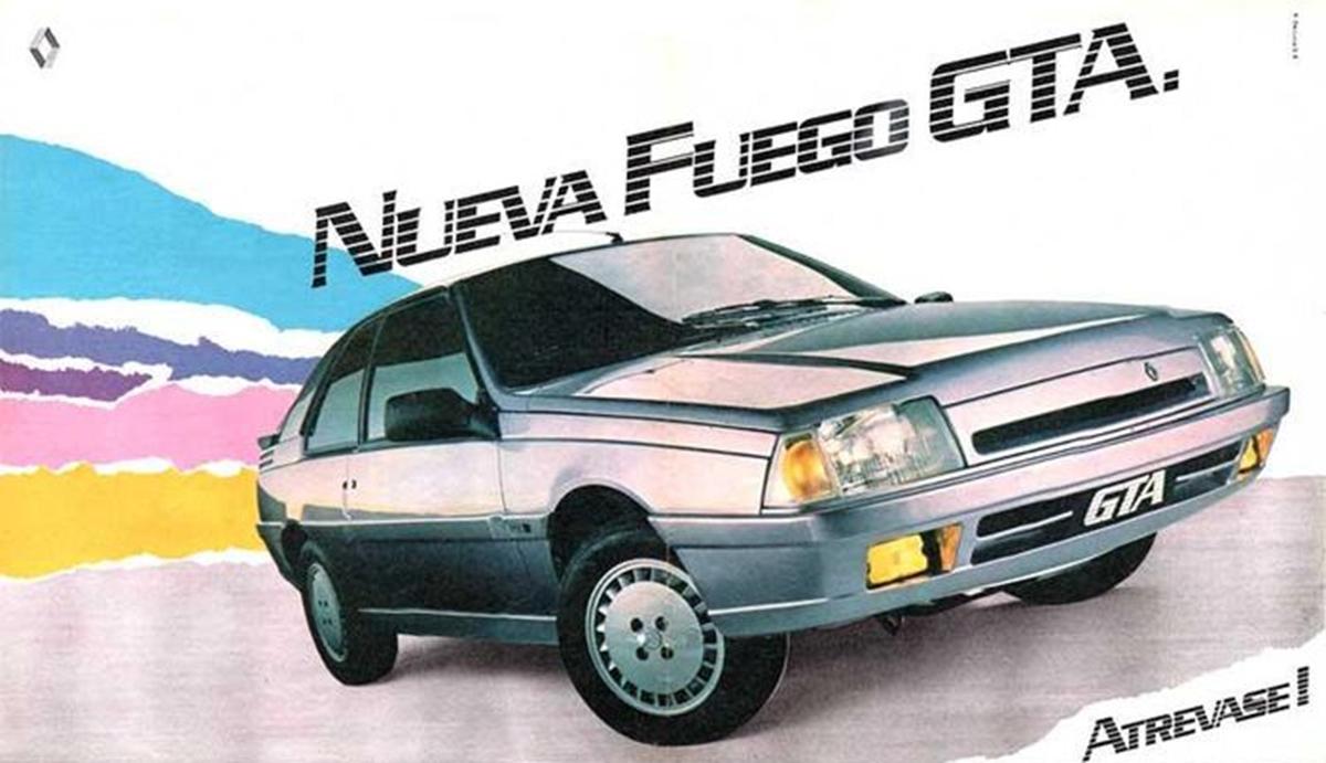 renault fuego gta prata de frente rm imagem publicitaria para o mercado argentino