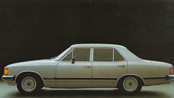 chevrolet opala diplomata 1980 quatro portas cinza lateral
