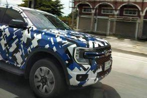 Flagra mostra que nova Ford Ranger terá frente inspirada na F-150