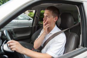 motorista assustado